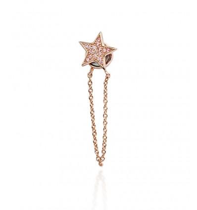 bijou d'oreille star rose