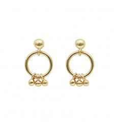 Boucles d'oreille Faye or