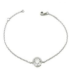 Bracelet solitaire serti