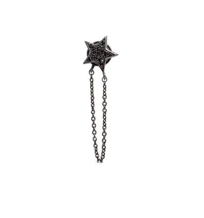 bijou d'oreille star noir