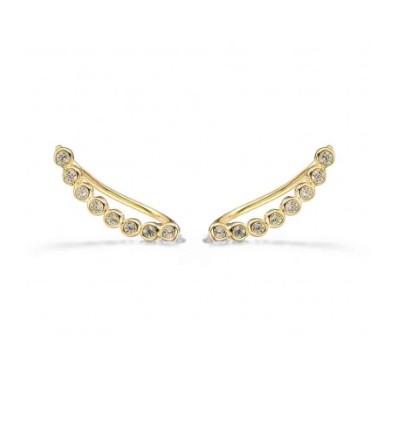 bijou d'oreille ligne diamants or