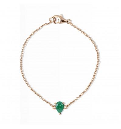 bracelet poire émeraude